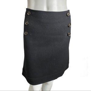 Pink Tartan Black Wool Blend Skirt Size 8